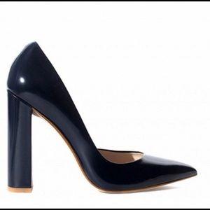 Zara Blue Leather Pumps
